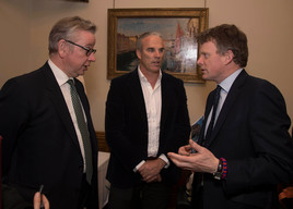 Michael Gove, Lewis Pugh and Richard Benyon at Blue Belt Charter Parliamentary Reception in London