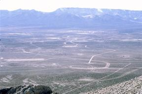 Nevada's nuclear test site view. Nevada, USA.