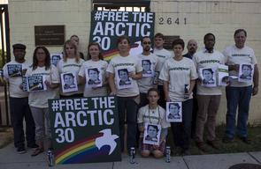 'Free the Arctic 30' Protest at Embassy in Washington