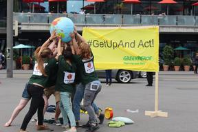 'GetUpAnd' Global Day of Action in Switzerland