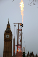 Fracking Action at Parliament Square in London
