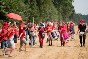 Red Line against Lignite Mining at Hambach in Cologne
