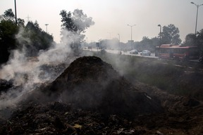 Garbage Pyres of the Capital City in New Delhi