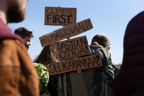 Climate Policy March in Helsinki