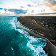 Aerial View of the Great Australian Bight
