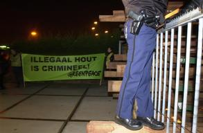 Action against Illegal Timber at DLH Vlissingen