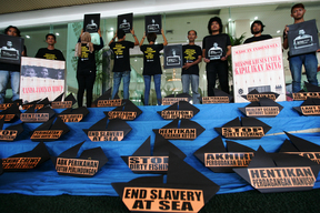 Slavery at Sea Protest in Jakarta