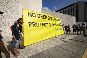 No Deep Sea Mining Protest at ISA Meeting in Jamaica