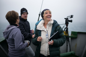 Emma Thompson on Arctic Sunrise in Canada