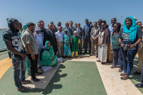 Official Visit of Mauritanian Ministers on Esperanza in Nouakchott