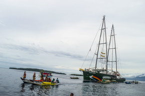 Rainbow Warrior Arrival in Manokwari, West Papua