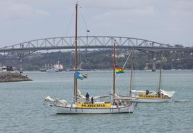 The 'Oil Free Seas' Flotilla Return to Auckland