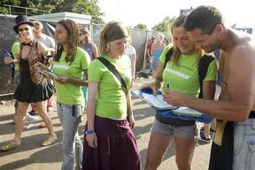Greenpeace at Lowlands Festival in Action for the Climate.