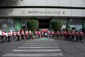 Protest for Sustainable Urban Transport  Project in Mexico City