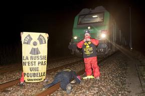 Nuclear Waste Blockade in Cherbourg