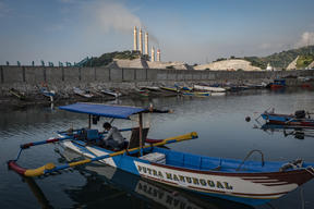 A Local Fisherman near the Coal Power Plants in Suralaya, Indonesia