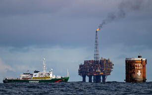 Activists Protest against Shell in the North Sea