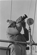 Ben Metcalfe filming during first Greenpeace protest voyage against US nuclear testing on Amchitka.