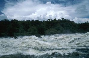 Rapids in river Nile, Uganda