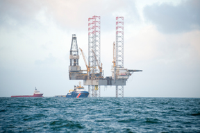Hansa Hydrocarbons Prospector 1 Drilling Platform in the North Sea