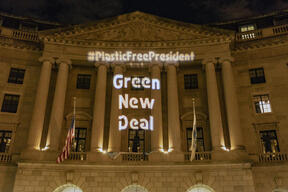 Presidential Plastic Action Plan Projection in Washington D.C.