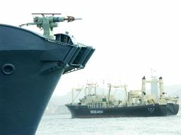 Whaling Fleet Depart for the Southern Ocean in Japan