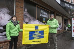 Protest against Edeka's Meat Policy in Cologne