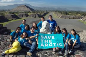 'Mountains and Rooftops' Arctic Sanctuary Action at Teotihuacan
