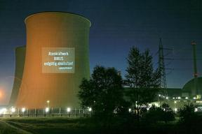 Projection on Nuclear Plant Biblis in Germany