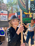 Jane Fonda at Global Climate Strike in Los Angeles