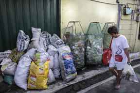 Plastic Pollution in the Aftermath of Super Typhoon Manghkut in Manila