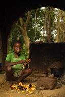 Woman Cooking in Congo