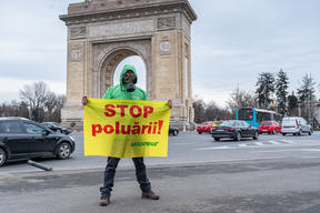 Clean Air Now Action in Bucharest, Romania
