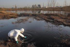 Sampling Wastewater in Inner Mongolia