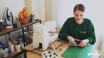 Sewing Reusable Dish Cover - Web Video (Russian Version)