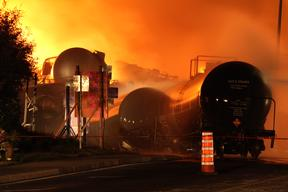 Train Carrying Crude Oil Derails in Quebec