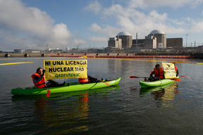 Action at Almaraz Nuclear Power Plant in Spain