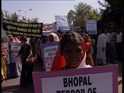 Rally against Dow Chemicals in Bhopal