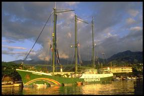 RAINBOW WARRIOR, Papeete, Tahiti.