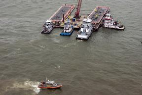Coast Guard Responds to Houston Ship Canal Oil Spill