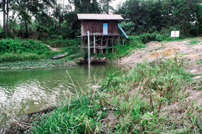 Reservoir in Kerta Buana Village in East Kalimantan