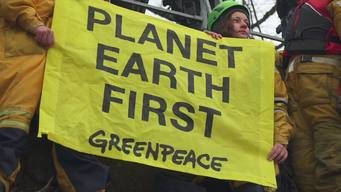 Planet Earth First Banners at G20 Foreign Ministers Meeting in Bonn - Web Video  (German version)
