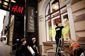 Detox Campaign against H&M in Helsinki