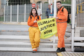Climate Crisis Action at HELPE Refinery in Aspropyrgos, Greece