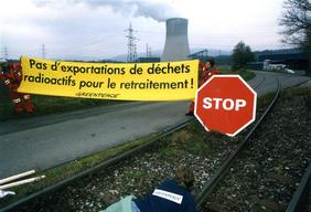 Nuclear Action against Transport from Nuclear Power Plant Gösgen
