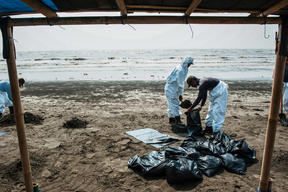 Oil Spill in Karawang, West Java