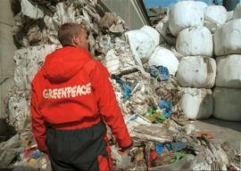 Greenpeace Action against Cementa Cement Factory in Gotland, Sweden