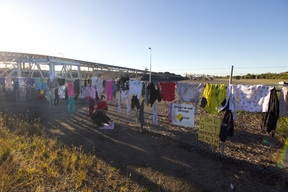 CommBank's Coal Kills - Dirty Laundry Action in Newcastle, Australia
