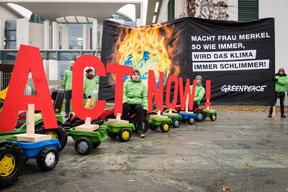 Protest for Change in Agricultural Policy for Climate in Berlin
