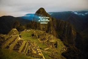 Spanish Projection on Machu Picchu Ahead of UN Climate Summit